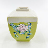 Vintage Hand Painted Porcelain Floral Flower Pink Blue White Vase Shabby Chic