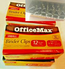 Binder Clips Small 34 36 Pcs Office Max 5 16 Capacity Storage Binding File Nwt