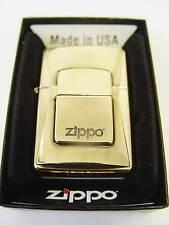 Zippo® LUXURY Golden lighter  Emblem 2012 - Limited Edition - Brass Neu/New OVP