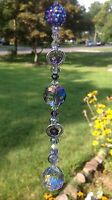 Purple Rhinestone Crystal Suncatcher/Prism Swarovski Elements Feng Shui Ball USA