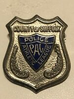 2 VINTAGE SUFFOLK COUNTY PAL POLICE ATHLETIC LEAGUE PIN BACK