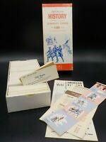 Unused 60's American History Vis-Ed Civil War Flash Cards 1000 Educational Card