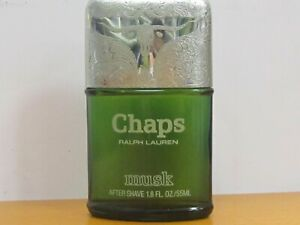 Chaps Musk By Ralph Lauren Men After Shave 1.8 oz  55 ml After Shave Lotion No b