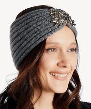 Sole/Society Women's Headband Earwarmers Jeweled Ribbed Knit Hair Headwrap $33 N