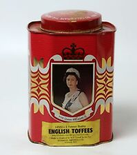 1977 Silver Jubilee Elizabeth II Canister Metal Tin Lovell's Toffees