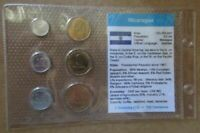 NICARAGUA..6 UNCIRCULATED COINS......IN PLASTIC COVER