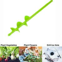 Garden Spiral Auger Drill Planter Bulb Shaft Yard Planting Hole Tool New Di G8H5