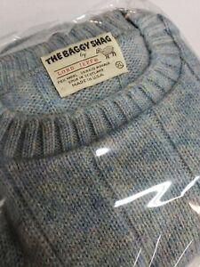 VTG 80s Kurt Cobain MTV Sweater Mohair Wool Multicolor Mens XL The Baggy Shag