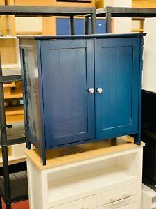 Under Sink Bathroom Cabinet with 2 Doors - Blue