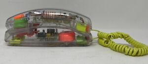Vintage Clear See Through Phone Conair 80'S/90'S RETRO Neon Brights TELEPHONE