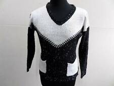 "WOMENS EMY-JO VINATGE JUMPER BLACK SIZE 38"" CHEST GOOD SKU No LB576"