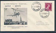 88011) posta elicottero FF 21.8.50 sou Hasselt (- Bruxelles) senza ank. - stpl