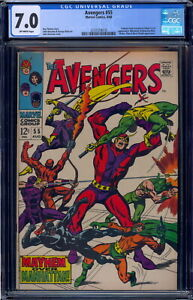 Avengers  #55 CGC 7.0 Off-White pages 2131518018 1st Appearance of Ultron