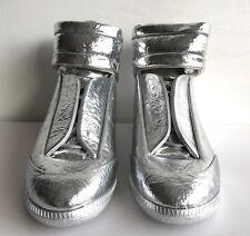 Maison MARGIELA futuro metallico textured-leather Scarpe Da Ginnastica EU 43,5 UK 9 RRP £ 655