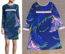 *FREE SHIPPING* - DESIGNER MULTICOLOUR JERSEY SILK DRESS (SIZE 44 ONLY) (009849)