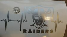 Oakland Raiders Life car decal