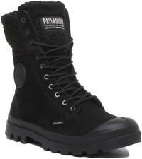 Palladium Baggy Pilot Womens Nubuck High Winter Boots In Black UK Sizes 3 - 7