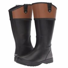 New Sperry Top-Sider Women's Nellie Kate Rain Boot, Black/Brown Size 7.5 M