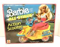 Vintage 1989 Barbie & The All Stars Action Scooter Mattel In Original Box!