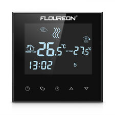 BLACK Floureon Safe AC200-240V Large LCD Touch Screen Heating Thermostat HY03WE4
