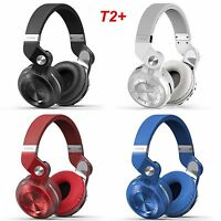 Bluedio Bluetooth 4.1 Headset T2 Plus Wireless Stereo Headphones with Microphone