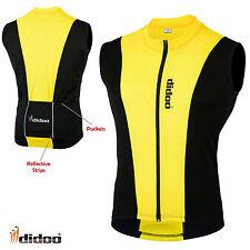 New Men's Cycling Sleeveless Shirts Racing Biking Top Cycling Jerseys Full Zip