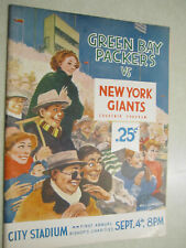 GREEN BAY PACKERS VS NEW YORK GIANTS  PROGRAM ~ 1961 ~ STARR / LOMBARDI