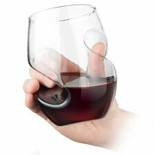 Final Touch Conundrum Red Wine Glasses - Hand Blown Stemless Glass 473ml - 4pk