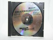 ✔️📀 RETRO MICROSOFT PROJECT 2000 PC SOFTWARE - UK SELLER