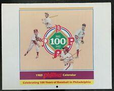 PHILADELPHIA PHILLIES 1883-1983 PHOTO CALENDAR 100 YEARS OF BASEBALL