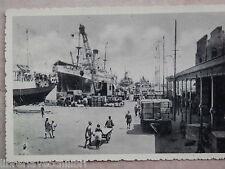 Vecchia foto epoca fotografia antica LA BANCHINA AL PORTO DI MASSAUA 1936 coloni