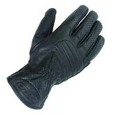 Tuzo Roadstar Leather Motorcycle Summer Gloves Black XS