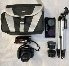 Canon EOS1200D Rebel T5 Digital SLR Camera Bundle with 3 Lenses