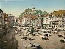 Steiermark. Graz. Marktplatz. Steiermark. Graz. Marktplatz. photochromie, vint