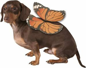 Monarch Butterfly Dog Wings- M/L - Elastic Straps - Halloween Costume Rubies NWT