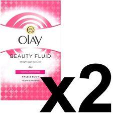 2 Olay Beauty Fluid Normal Dry Moisturiser Face Body NonGreasy ClassicCare 200ml
