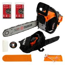 45cc Petrol Chainsaw + 2 x Chains + More!