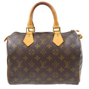 LOUIS VUITTON SPEEDY 25 HAND BAG PURSE MONOGRAM CANVAS M41528 SP1000 72059