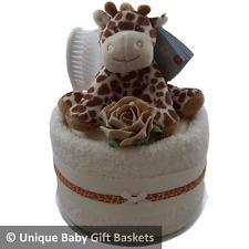 Pannolino TORTA ASCIUGAMANO Giraffe Toy Spazzola / PETTINE Bavaglino Calzini Scratch muffole Unisex NEUTRA