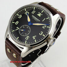 42mm DEBERT black dial sapphire glass date window Automatic mens womens Watch 14