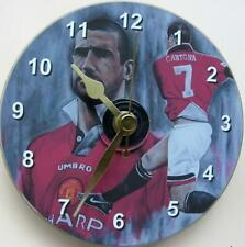 More details for eric cantona manchester united football on a 12cm cd clock sweep+desk stand