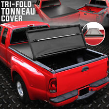 FOR 07-17 TOYOTA TUNDRA 5.5' BED TRI-FOLD ADJUSTABLE SOFT TRUNK TONNEAU COVER
