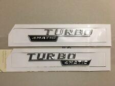 2x Mercedes-Benz  4Matic Turbo Badge Emblem Decals Chrome
