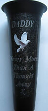 DADDY Memorial Flower Vase White Dove In Loving Memory Grave Spike