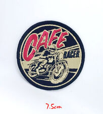 Cafe Racer Round Iron on or Sew on Embroidered Patch #244