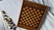 Boîte de jeu ancienne, dames jacquet backgammon