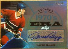 2015 LEAF SIGNATURE SERIES HOCKEY - JACQUES LEMAIRE 70'S ERA AUTOGRAPH  #6/10!!!