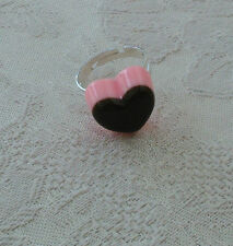 Heart Silver Plated Costume Rings without Stone