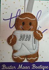 Hanging Decoration Gingerbread Man, Lockdown Keepsake, Memory Box, Gift