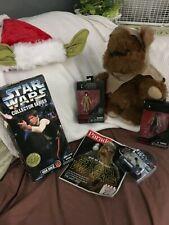 Star Wars lot Han Solo #27725, Yoda earbuds, (2) figures, Ewok plush & Yoda hat